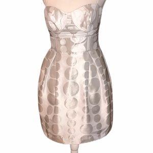 Walter Baker Gray and White polka dot dress
